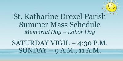 2017 Summer Mass Schedule