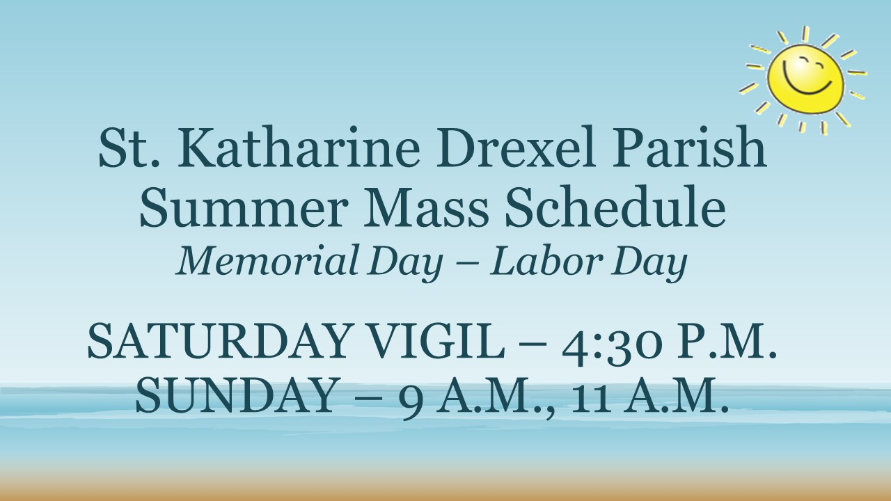 2017 Summer Mass Schedule