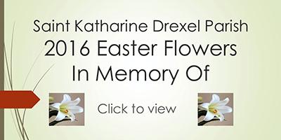 2016 Easter Flowers In Memory Of