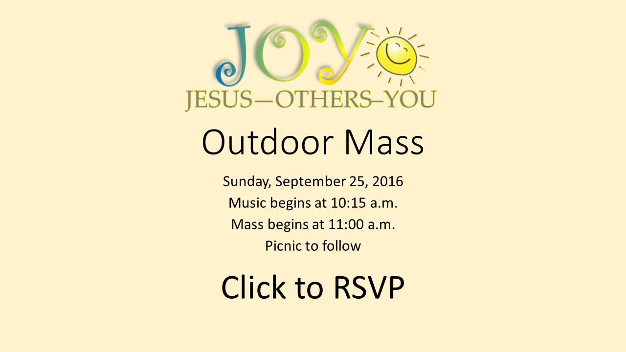 JOY Outdoor Mass