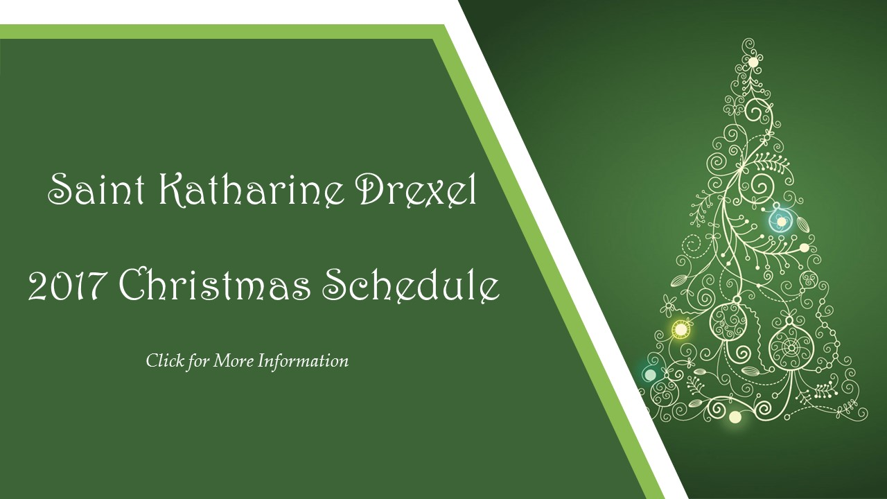 SKD Christmas Schedule 2017