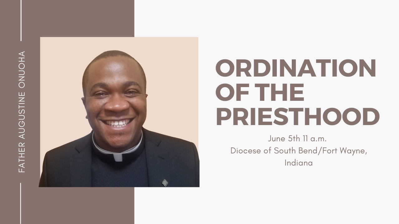 Watch Ordination on Saturday June 5th at 11 a.m. EST